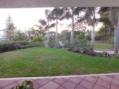 Dad's house in Costa Rica. The front yard at sunrise.