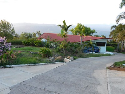 Views around Grifo Alto, Costa Rica. This is looking on Dad's house from above.
