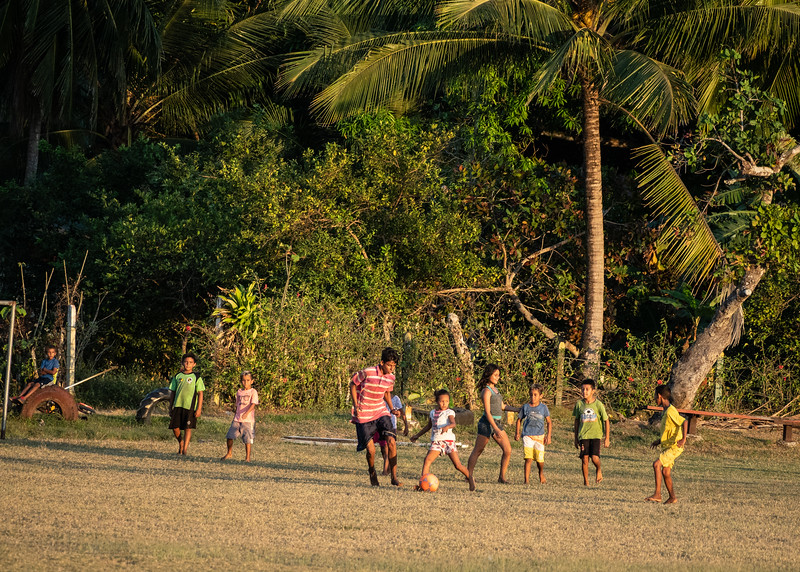 Local kids playing football