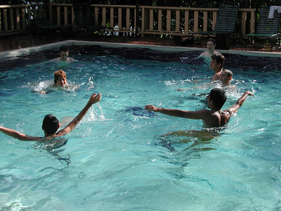 172 2 - The kids in the Costa Verde Hotel Pool