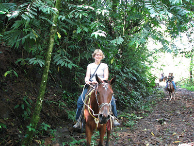 192 - Horseback riding, Taryn on the horse