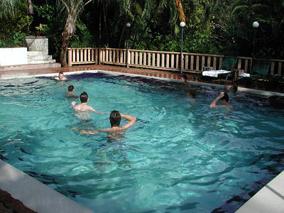 172 3 - The kids in the Costa Verde Hotel Pool