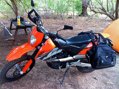 My bike in Costa Rica a KTM