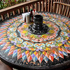 Restaurant oxcart wheel