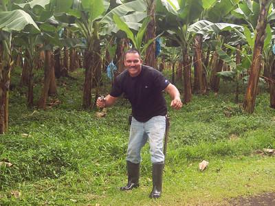 hamming it up at the banana plantation