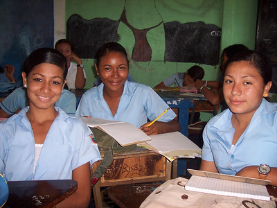 Students at Porcora High School