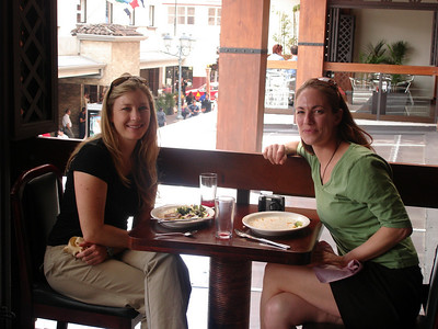 More lunch smiles....Candice and Carissa