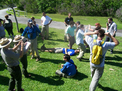 Life chain skit activity in the Everglades