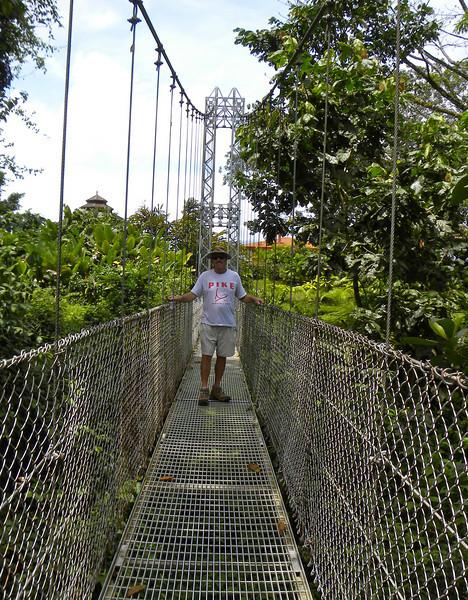 Norm on the suspension bridge.