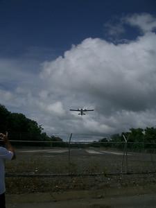 Chartered flight leaving Osa