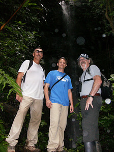 Guys at the waterfall