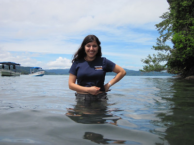 MarDestinee in the Golfo Dulce enjoying some time at the beach after planting mangroves. Photo by A.M. Burgamy