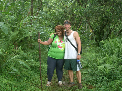 LaTricia's First Hike with Teacher Timothy (photo by Jennifer)