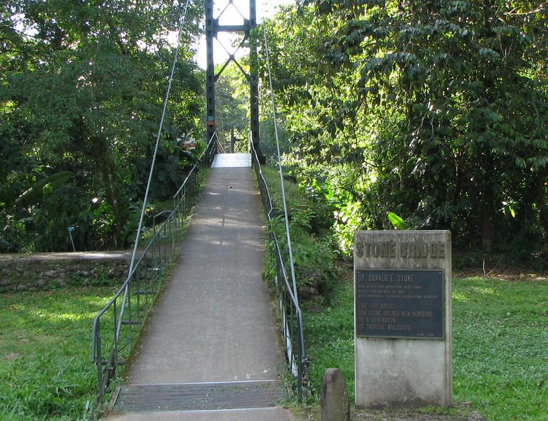 Stone Bridge - Entrance to Secured Reserve Area  - La Selva