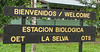 Welcome Sign With Dining Hall Behind  - La Selva