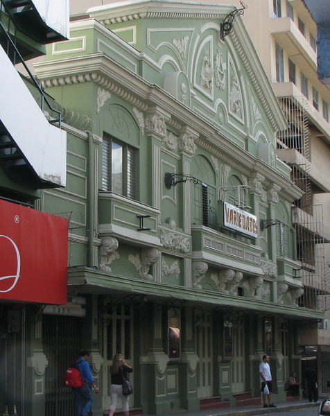 Downtown San Jose - Building on Street Off Pedestrian Area of Avenida Central