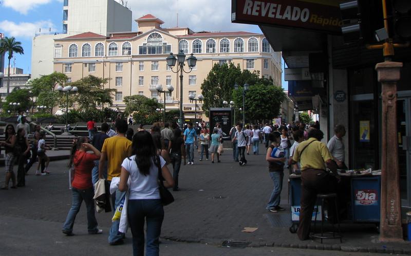 Downtown San Jose - Approaching Plaza de la Cultural on Left
