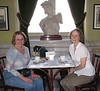 Downtown San Jose - Kathy and Donna at Teatro Nacional Cafe on a Second Visit