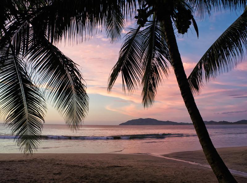 Sunset on the beach in Tamarindo, Costa Rica