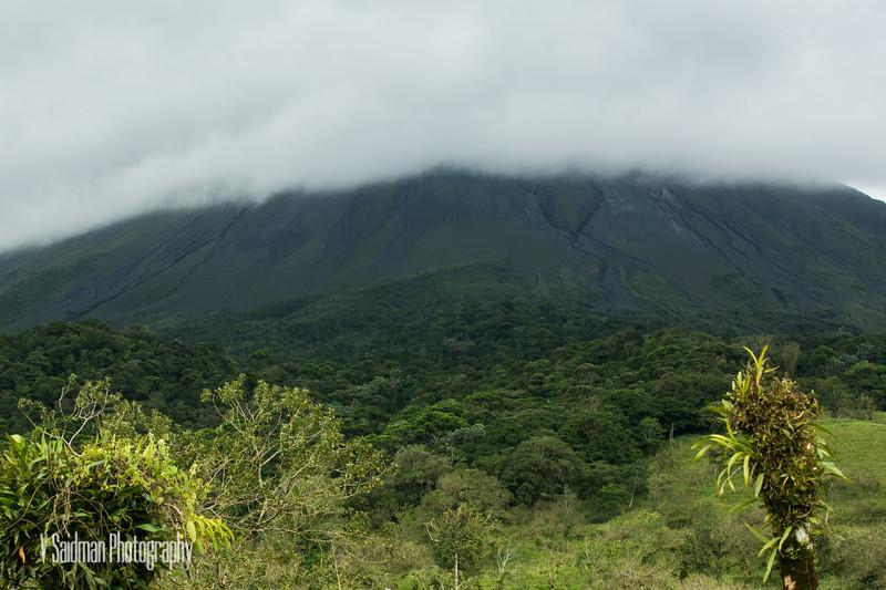 Arenal Volcano In Fog