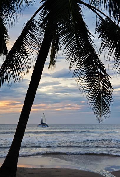 Sunset and sailboat, Tamarindo, Costa Rica