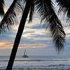 Sunset and sailboat, Tamarindo, Costa Rica