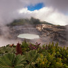 Poas Volcano Crater and Lake