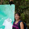 Julie and monkey friend at Manuel Antonio National Park.