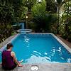 Julie at the pool at La Posada.