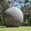 Large shaped stone ball at the Natural History Museum