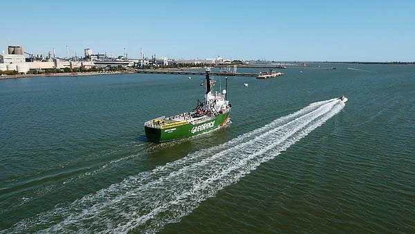Greenpeace denuncia el plan de Fertiberia para cubrir los fosfoyesos de las marismas de Huelva