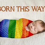 Rainbow gay Born this way - baby wrapped up