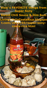 Super Sony - Vicki's FAVORITES - Sweet Chili Sauce & DIM SUM - from: http://LivingLifeInCostaRica.blogspot.com/2012/03/super-sony-costa-rica.html