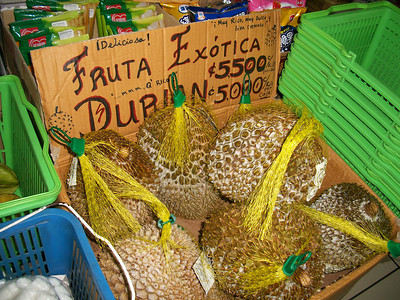 Super Sony - DURIAN fruit from: http://LivingLifeInCostaRica.blogspot.com/2012/03/super-sony-costa-rica.html
