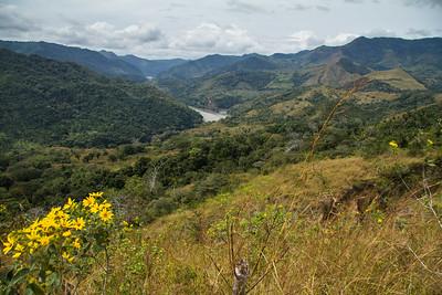 On our way to a Baruca Indian Village, the Rio Grande de Terraba down in the valley