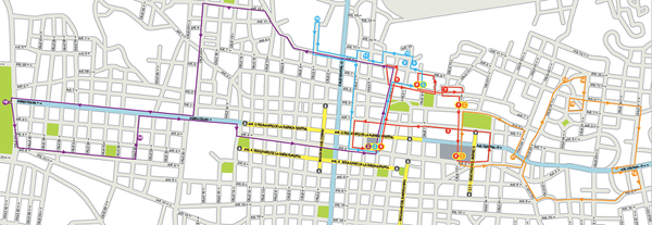 MAP of DOWNTOWN San Jose, Costa Rica