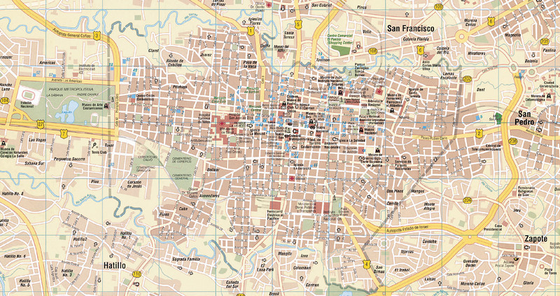 "MAP:  This is a GOOD map of San Jose, Costa Rica & surrounding areas - BUT - you can see it easier if you click on this picture & at the top Left Corner hit ""2X"" & it will get bigger"