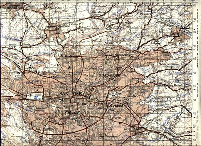 """This is a MAP of San Jose, Costa Rica & surrounding areas though it's hard to read so best to click here 1 time & at the top LEFT corner click """"O"""" (for """"Original"""") & it will get bigger."""