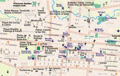 JOSE - San Jose, Costa Rica - SarongGoddess Downtown San Jose Map on
