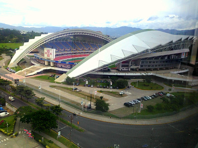 Vicki Skinner's picture of the Costa Rica Nacional Stadium from ____ Hotel when there for Wardens Lunch 2016