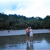 Manuel Antonio Beach - Marge Fulgoni and our FABULOUS tour guide Frank Chicas (Enjoying Costa Rica Tours)!!!!  Aug. '04