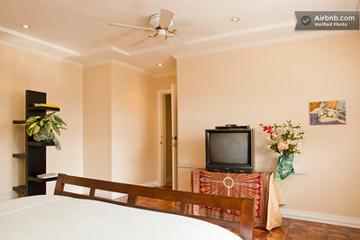 #1 - GRAND Room is the largest room with a QUEEN bed plus a large private bathroom with double sink, large functioning (rare in Costa Rica often) jacuzzi tub and shower. Guests have loved this comfortable, quiet room!   RATE: $60/night