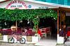 Street scene and a restaurant in the village of La Fortuna, Costa Rica, Central America.