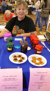 Paula Friedman and her tasty home-made Mango Chutney and Orange Marmalade