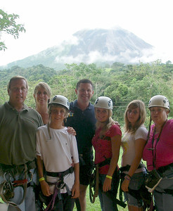 Whenever possible your driver will go with you on excursions!!  It helps with the translation & the having FUNNNNN factor!!!  This was Zip Lining•Canopy Tour in Arenal with the Skinner family of San Diego.