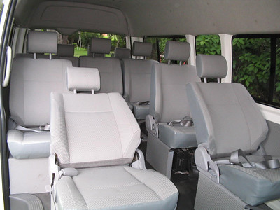 Now THIS is luxury!!  Some of our vans recline!!  (make sure you request it if that's important to you)