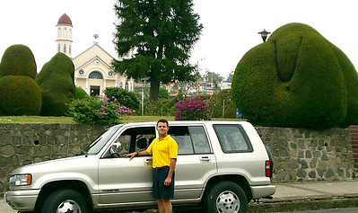 'Already have your own vehicle but don't want to drive it yourself?  Let one of our drivers drive you so you can ENJOY your time in Costa Rica!!  Driver Frank Chicas at the BEAUTIFUL Zarcero Topiary Gardens, Costa Rica