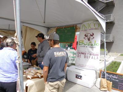 BUFALO GRILL & MARKET (http://facebook.com/pages/Bufalo-Grill-Market/293420577353592  •  8-703-2441 • 8-718-5166 • 2-282-4112)   Saturdays at Feria Mercado Km0 Contemporaneo at Avenida Escazu  Bufalo Mozzarella - 4 large REALLY TASTY balls just 5,700 (you pay that for 2 weak ones in the markets).  SOUPS AND SALADS: Tomato soup Bean Cream Capressa of bufala salad Salad with pears and pecans tropical Salad Salad buffalo grill Bufala Tower  TICKETS: crispy mozzarella Carpaccio buffalo grill Carpaccio Mediterraneo Bufalo tonato Chorizo (2 per serving) Pies (2 per serving) Salami (2 per serving) Bufala wrapped Pinchos (ciliegini and cherrys) Parrilla (for 2 people)  Sandwiches and burgers Pressing bufala Philly steak sandwich Sandwich Malandrino Buffalo burger grill BLT Burger Mediterranean Burger Hamburger to combine  Grilled meats (each cut takes is accompanied by two garnishes) Ribeye New York Tenderloin Sirloin Puyaso Skewers Ribs with BBQ Sauce  FITTINGS Ripe banana cake French fries Grilled vegetables white rice Pure cassava Mashed potatoes roasted Potatoes roasted corn Rustic Potatoes (peasant) House Salad  DESSERTS Berries Chocolate Dynamite Apple Delight Cheese Cake  @@@@@@@@@@@@@@@@@@@@@  ESPANOL: SOPAS Y ENSALADAS: Sopa de tomate Crema de Frijoles Ensalada Capressa de bufala Ensalada de peras y pecanas Ensalada tropical Ensalada bufalo grill Torre de Bufala  ENTRADAS: Mozzarella crocante Carpaccio bufalo grill Carpaccio Mediterraneo Bufalo tonato Chorizo (2 por racion) Empanadas (2 por racion) Salami (2 por racion) Bufala envuelta Pinchos(ciliegini y cherrys) Parrilla (para 2 personas)  SANDWICHES Y HAMBURGUESAS Prensado de bufala Philly steak sandwich Sandwich Malandrino Hamburguesa bufalo grill Hamburguesa BLT Hamburguesa mediterranea Hamburguesa a combinar  CARNES AL GRILL (cada corte lleva va acompaÑado de 2 guarniciones) Ribeye New York Lomito Sirloin Puyaso Pinchos Costillas con salsa BBQ  GUARNICIONES Pastel de platano maduro Papas fritas Vegetales al g