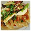 Chicken Gyoza's with Pear & Walnuts