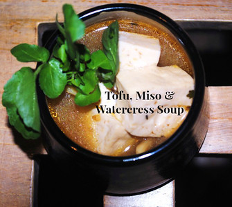 Tofu, Miso & Watercress Soup